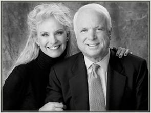 John, Cindy McCain
