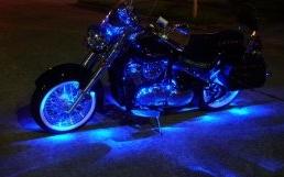 Light Blue Motorcycle