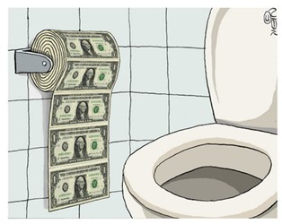 dollar-in-the-toilet