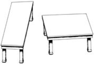 Illustration of two tables © 1990 Roger N. Shepard