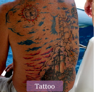 The SS Fantome Tattooed on Casey's Back
