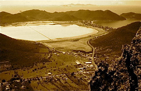 St.Martin's Great Salt Pond before Tourism became the economy