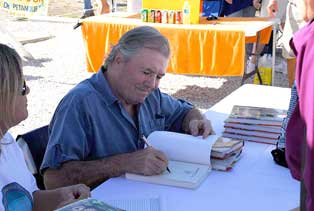 Famous Chef Jaques Pepin book signing on amelia Island during the Petanque America Open 2009