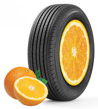 Tires with Orange Peel Oil
