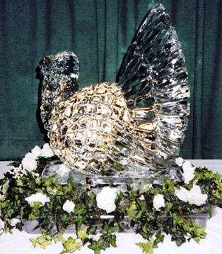 Turkey Ice Sculpture