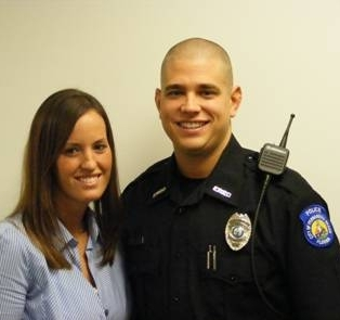 Officer Michael Mazuryk and wife Jessica