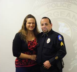 Sergeant Chad Lee with wife Buffy