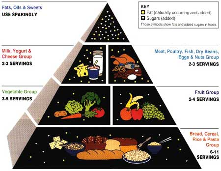 Good diet suggestions pyramid