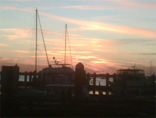 Sunset over the Amelia River