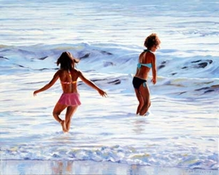 Children at the Beach, By:  John Tassey