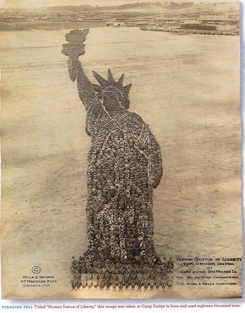 Human Statue of Liberty