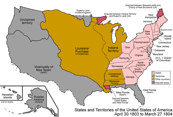 us map of 1803. And this was only 207 years
