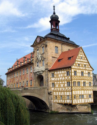 Beautiful Central European Architecture in Bamberg