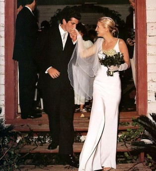 The JF Kennedy Jr wedding in the chapel