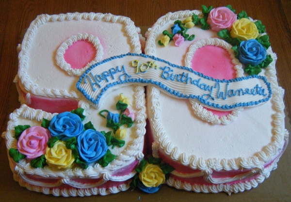 Cake Decorating Ideas For A 90 Year Old : Grandma Turns 90 Years Old