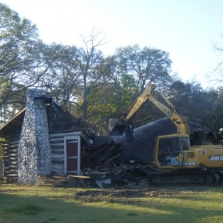 Log Cabin Demolished