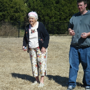 Petanque with Grandma