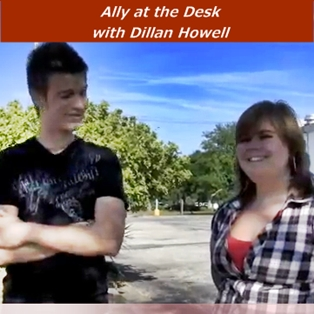 Dillan Howell and Ally at the Desk