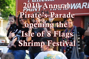 Isle of 8 Flags Annual Shrimp Festival Pirate's Parade 2010