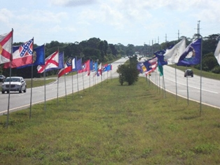 Memorial Day Flags on Amelia Island