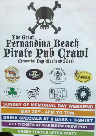 Fernandina Beach Pirate Pub Crawl