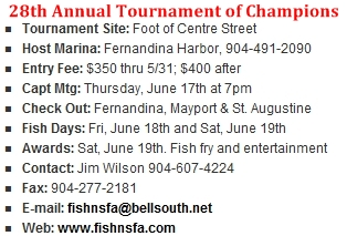 Kingfish Tournament Parking Lot Closure