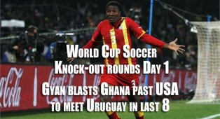 Uruguay and Ghana in last 8, US and S. Korea go home
