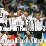 World Cup Soccer Knockout round 16 day 2