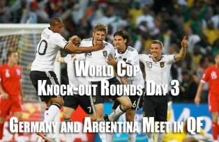 Germany beat England, Argentina Mexico. Face off between arch rivals