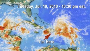 Caribbean Weather with Tropical Low of July 20, 2010