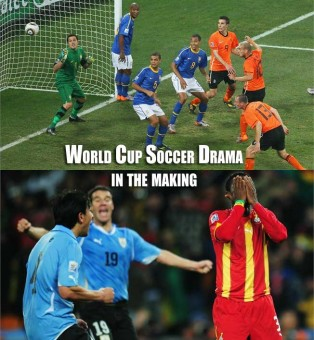 Holland meet Uruguay in Semi finals, Ghana and Brazil go home