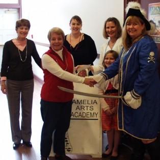 Fernandina Pirates Make Donation to Arts Academy