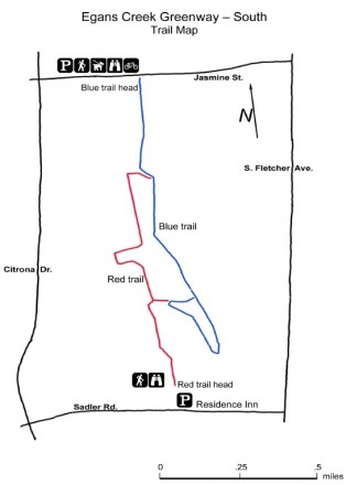 Egans Creek Greenway Map