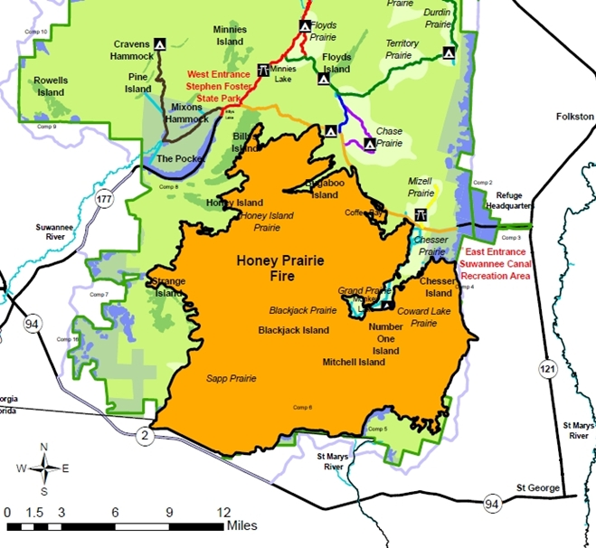 Okefenokee Fire Map.Swamp Fire Meetings In Macclenny And Hilliard