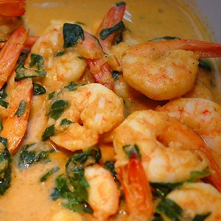Curried Shrimp and Spinach Recipe