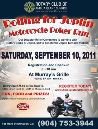 Rotary Poker Run Helps Joplin Tornado Victims