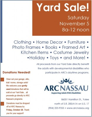 Donations Needed for ARC Yard Sale