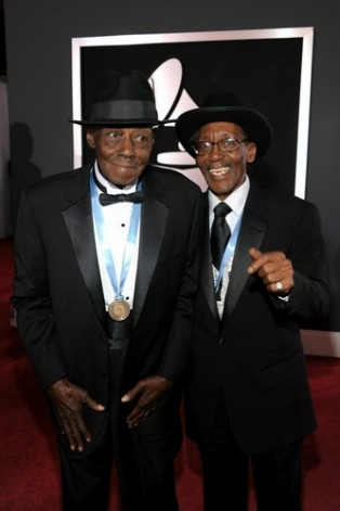 Pinetop Perkins and Willie Big Eyes Smith at 2011 Grammys