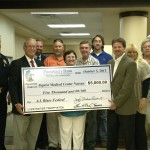 Blues Festival Committee Presents $5,000 Check to Baptist Medical Ctr. Nassau