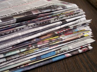 Newspaper waste