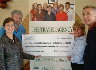 The Travel Agency donates to B&GC Nassau County