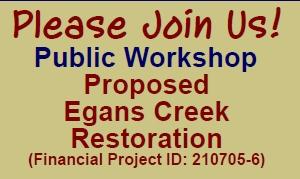 Proposed Egans Creek Restoration Workshop