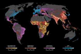 where people live on the planet