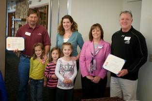 Rotary Club of Amelia Honored Two Paul Harris Fellows