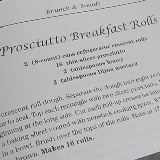 A Savory Place Prosciutto Breakfast Rolls