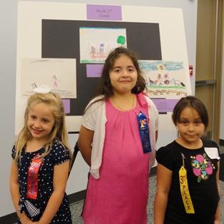 Left to right:  Abigail Coker, Fernanda Rodriguez, Cheyenne Mixon
