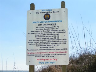 Beach Rules Fernandina Beach Florida
