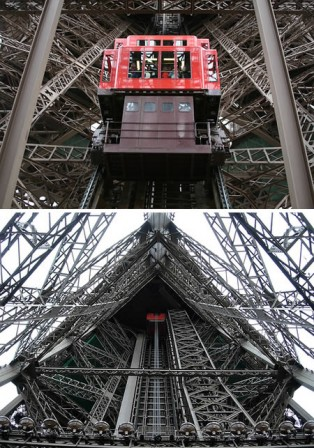 One elevator at Eiffel Tower severly damaged, searchamelia.com