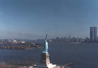 lady liberty and the twin towers
