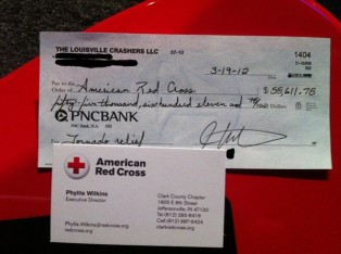 Red Cross Donation for Tornado Relief